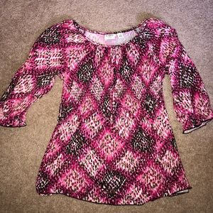 Cato Shirts & Tops - (3/$15) Cato Girls tie-back sparkle shirt XL 16